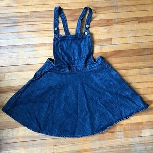 Jean overall dress with pockets